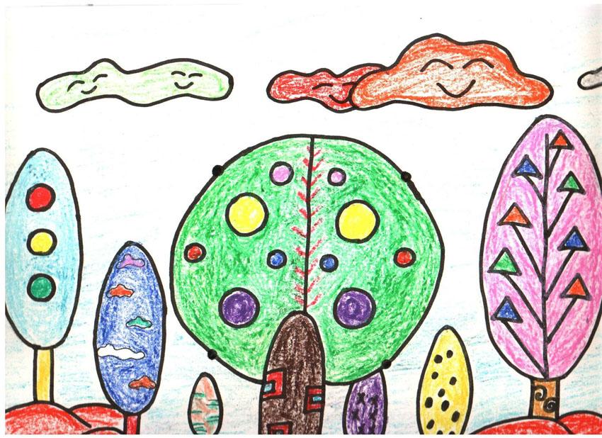 资源大小:125m 第一阶段 第一课 小鸡的新衣 课 题:小鸡的新衣 教学准备:专业画纸、勾线笔、蜡笔、手脑潜能音乐、教具 活动导入:儿歌《小鸡的新衣》 小鸡小鸡真神气,穿着美丽大花衣。勤劳勇敢不算啥,乐于助人是第一。 情商要点:要做乐于助人的好孩子。 构图要点:1、连接点的线条要准确。 2、小鸡小伙伴的形状可以自由发挥。 3、整幅作品比例要掌握好,花草等配景要及时加入。 涂色要点:1、小鸡的颜色可以自由选取,发挥孩子的想象力,但选取颜色要鲜艳。 2、天空和草坪要轻轻的涂,引导孩子不要太用力。 3、小鸡的